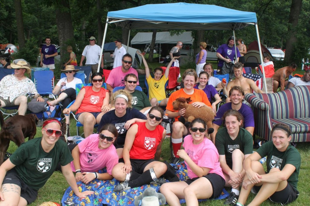 The Madison Rugby camp at Whorefest Rugby Tournament, June 2011. 