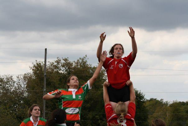 Wisconsin lock Jenny Pederson in the lineout.