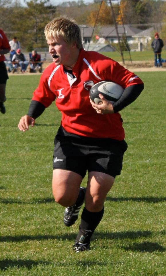 FIERCE! Wisconsin prop Amanda Evenstone earns the team's fave photo from the match honors. Go Amanda!