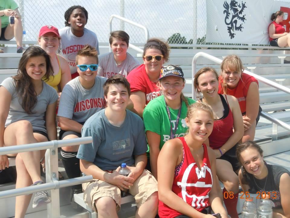 Members of the UW Women's club at Alumni Weekend.