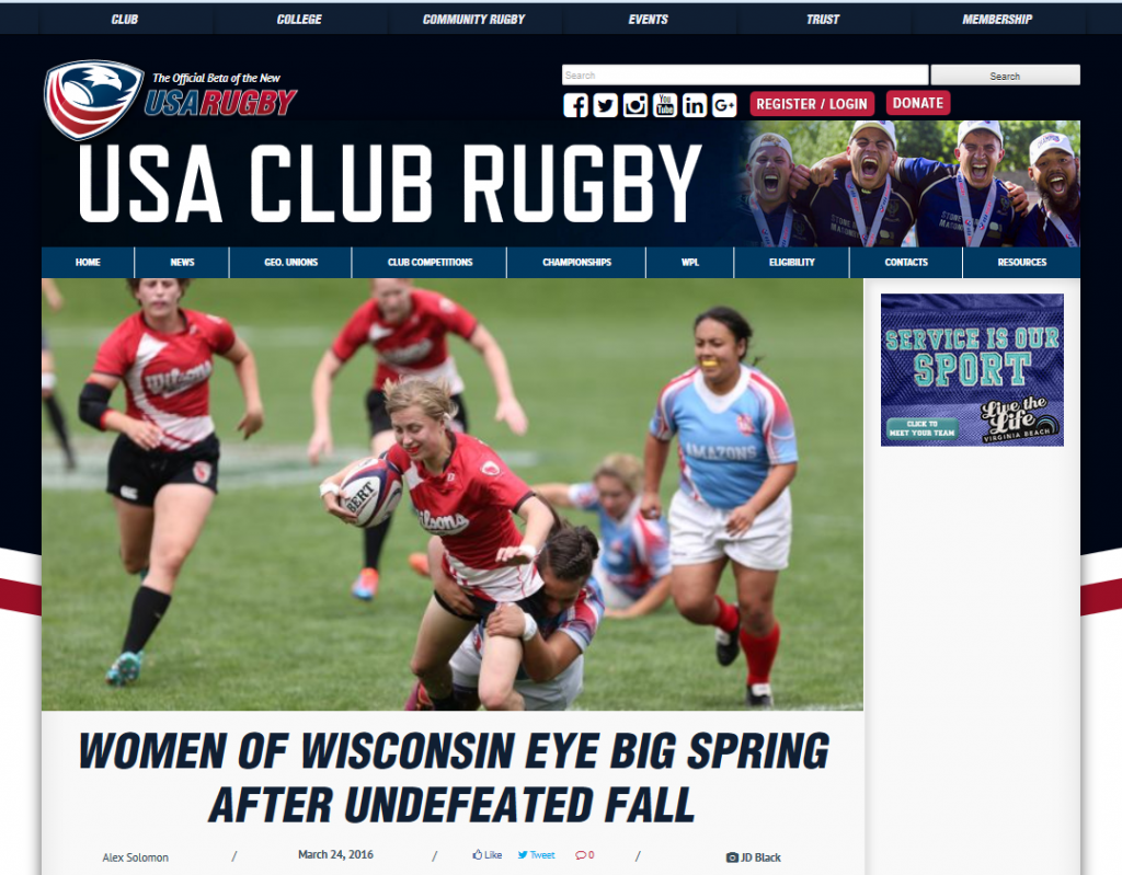 USA Rugby Feature Article - Wisconsin Women